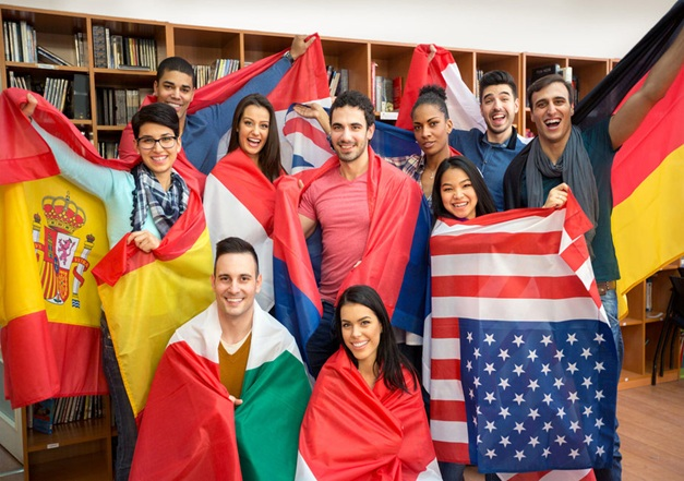 du học sinh từ nhiều nước