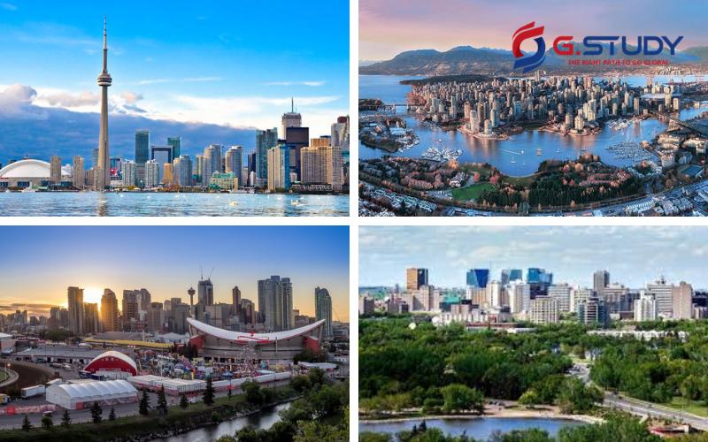 Bốn thành phố trong mơ của dân du học Canada