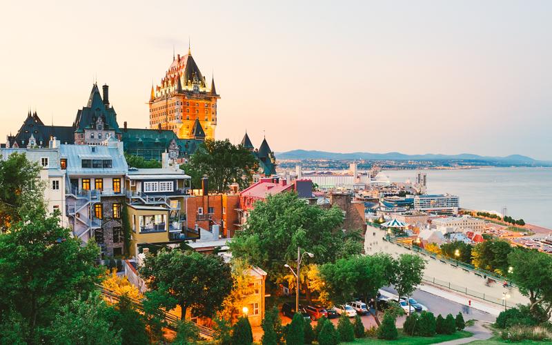 Cận cảnh thành phố bang Quebec