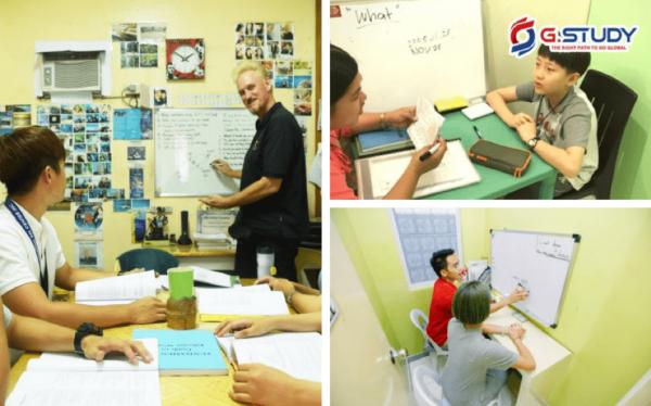 Giáo viên tại Học viện Anh ngữ CG hướng dẫn, chỉ dạy học viên