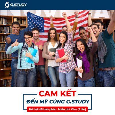 cam kết đến Mỹ cùng GStudy