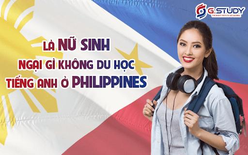 nữ sinh du học tiếng Anh tại Philippines